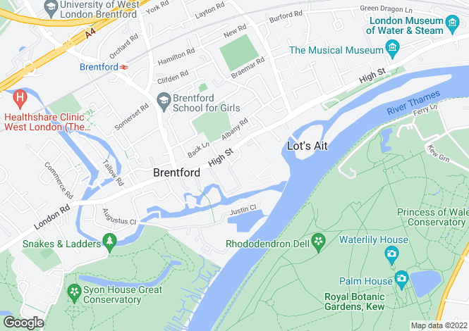 Map for Town Meadow, Brentford, TW8