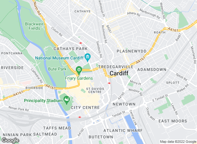 Map for Savills, Cardiff