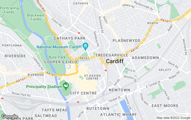 Map for Savills New Homes, Cardiff