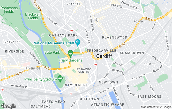Map for Savills (UK) - Commercial, Cardiff