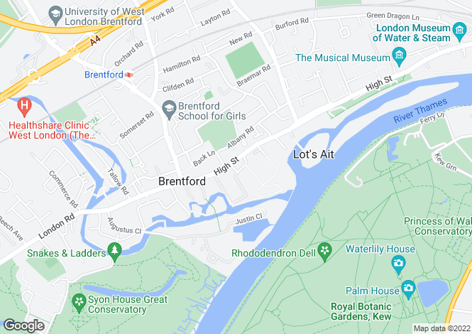 Map for Pump Alley, Brentford, Middlesex, TW8 0AE