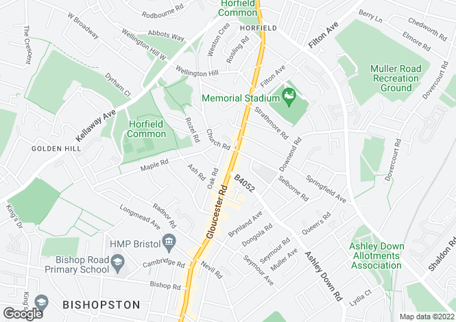 Map for Gloucester Road, Horfield