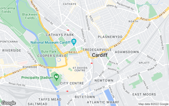 Map for Gerald Eve LLP, Cardiff