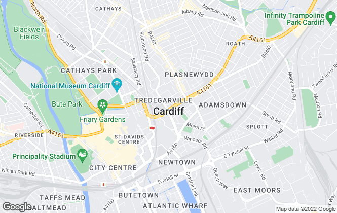 Map for Bruton Knowles , Cardiff