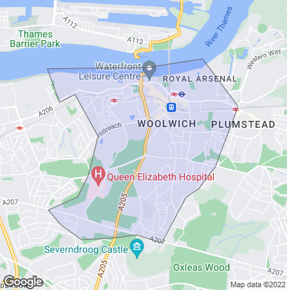 Map of property in Woolwich