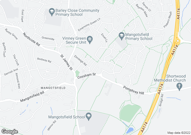 Map for Mangotsfield, Bristol
