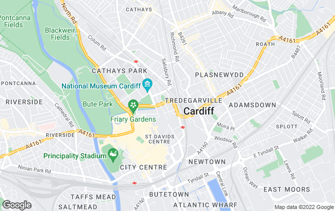 Map for EJ Hales, Cardiff