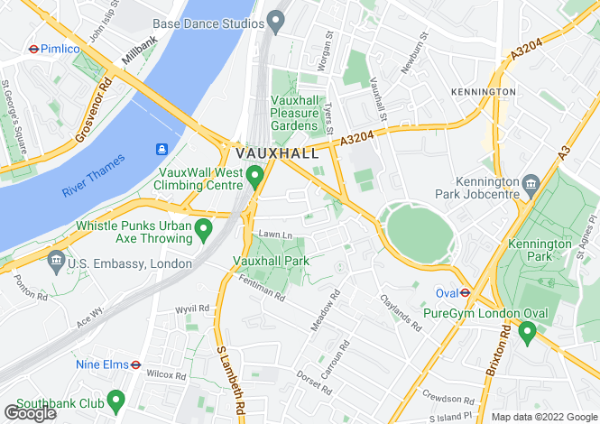 Map for Bonnington Square, Vauxhall, SW8