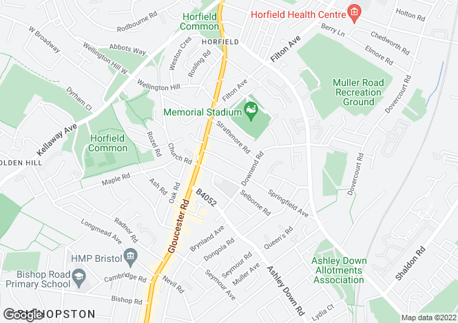 Map for Quarrington Road , Horfield, Bristol