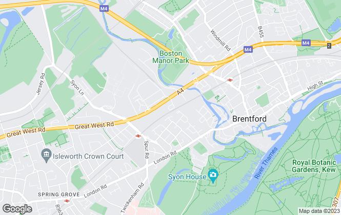 Map for Safestore Limited, Brentford
