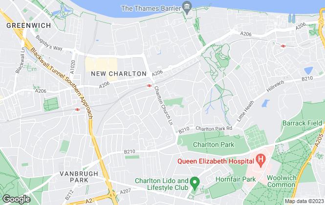 Map for Conran Estates, Charlton