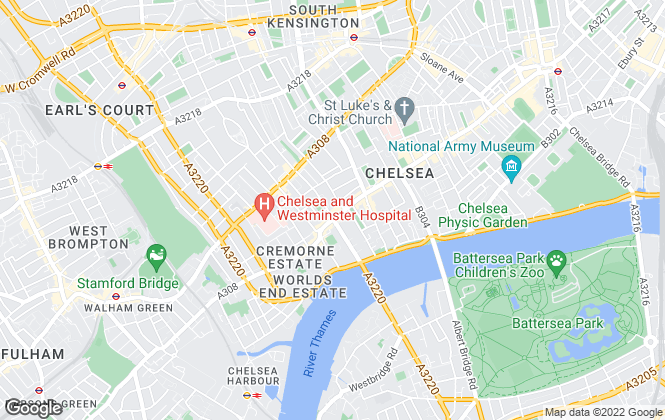 Map for Knight Frank, Chelsea