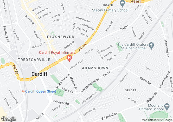 Map for Orbit Street, Adamsdown, Cardiff