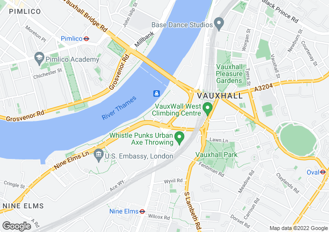 Map for St George Wharf, Vauxhall