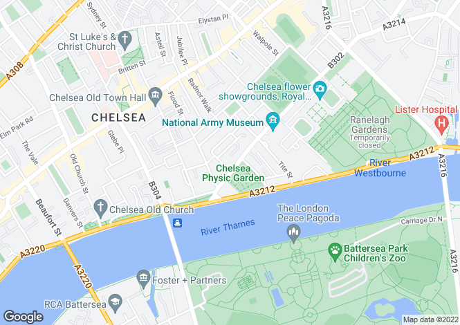 Map for Cheyne Place, Chelsea, London, SW3