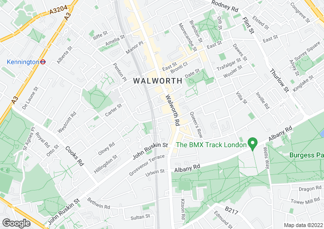 Map for Fielding Street, Walworth, SE17