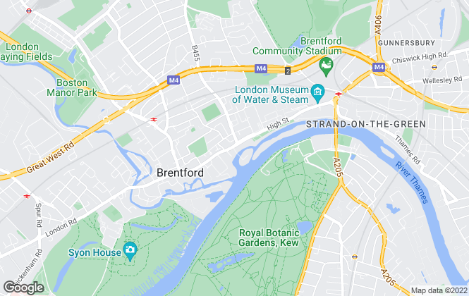 Map for Fine & Country, West London