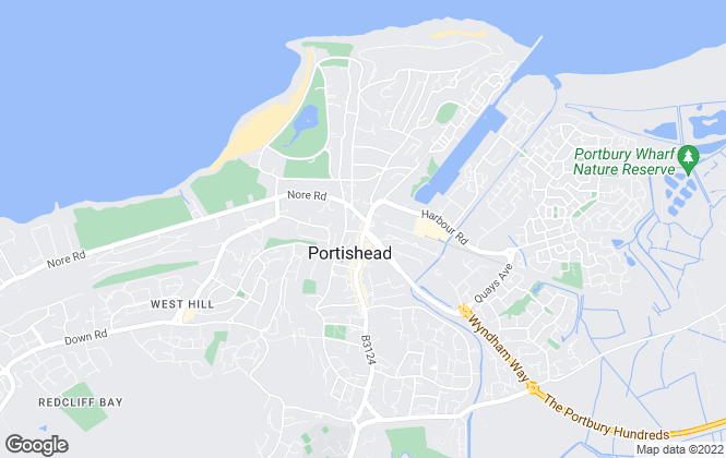 Map for West Coast Properties, Portishead