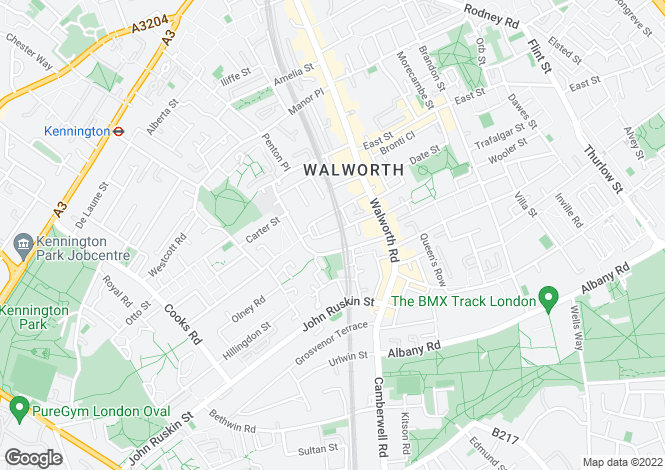 Map for Sutherland Square, Walworth, SE17