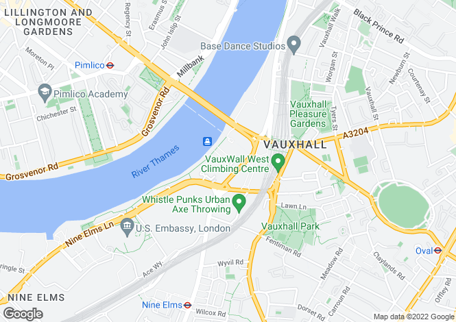 Map for Two Bedroom Flat for sale in Aquarius House, St George Wharf Vauxhall SW8