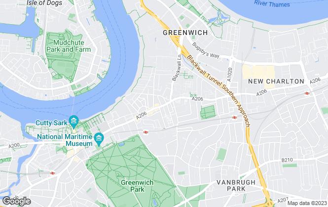 Map for Maritime Properties Ltd, Greenwich