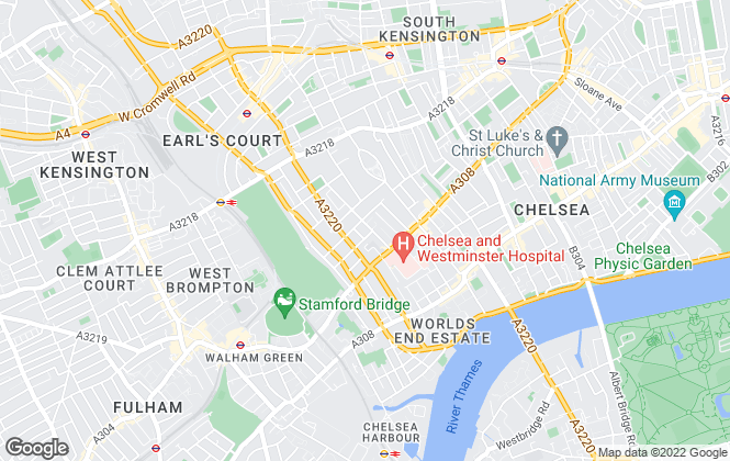 Map for Susan Metcalfe Residential, London