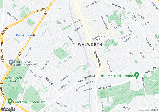Map for Sutherland Square, Walworth, London, SE17