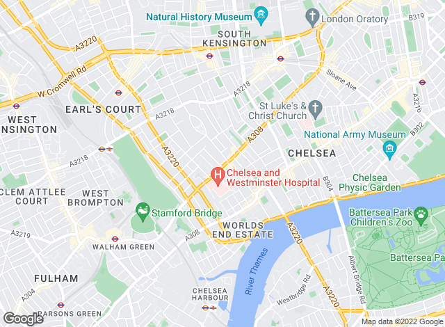 Map for Savills Lettings, Chelsea