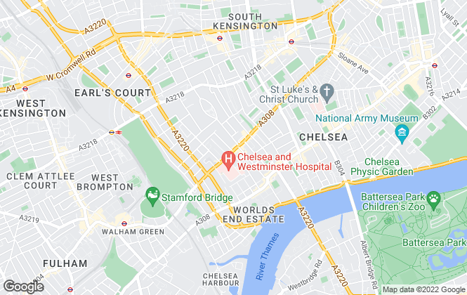 Map for Savills, Chelsea