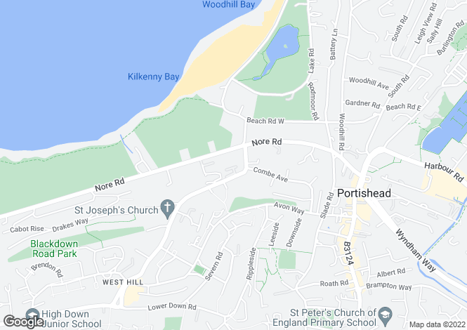 Map for Kilkenny Place, Portishead