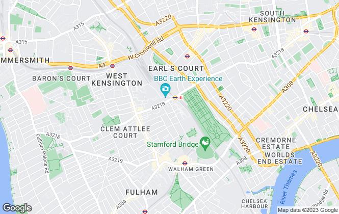 Map for PADPLA Ltd, Fulham