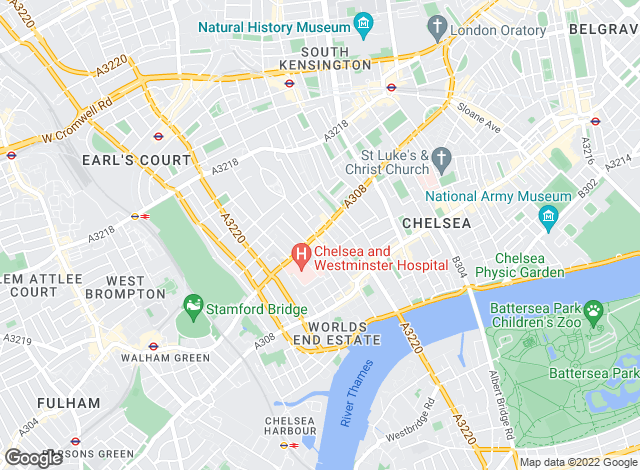 Map for Farrar & Co, Chelsea - Lettings