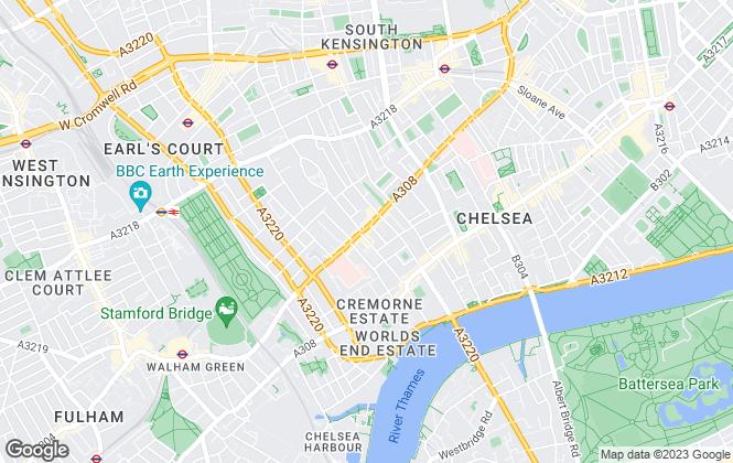 Map for Farrar & Co, Chelsea - Lettings