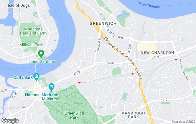 Map for John Payne, East Greenwich