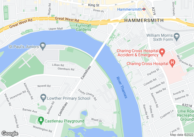 Map for Riverview Gardens, London, SW13