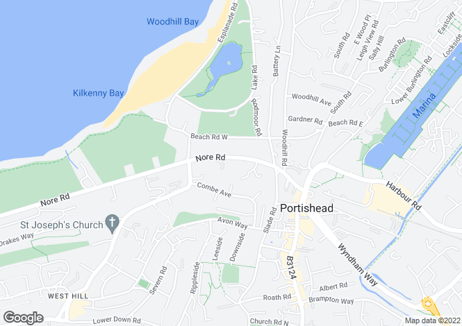 Map for Nore Road, Portishead, Bristol, BS20