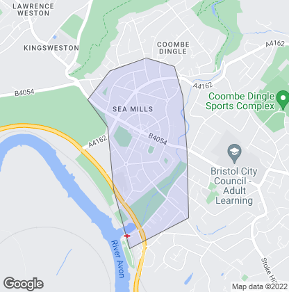 Map of property in Sea Mills