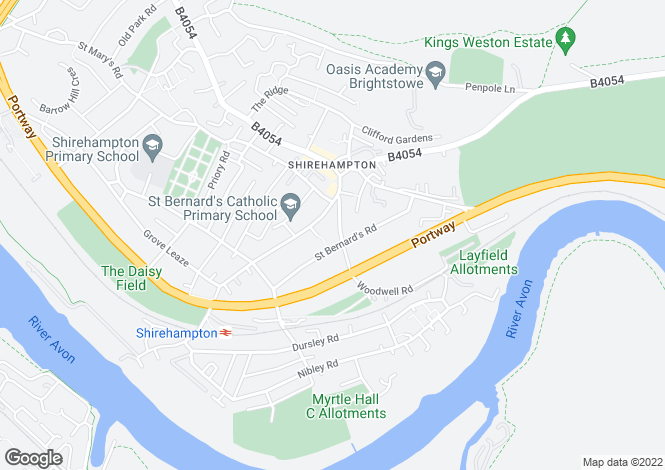Map for Woodwell Road, Shirehampton, Bristol