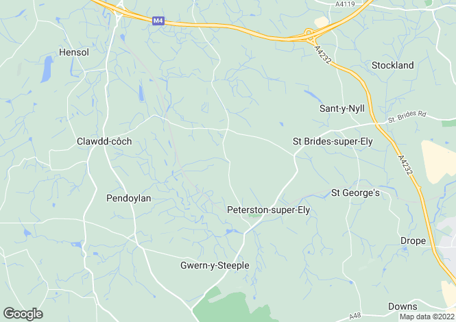 Map for Groesfaen Road, Peterston Super Ely, Vale Of Glamorgan, CF5 6NE