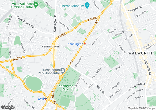 Map for Kennington Park Road, London, SE11