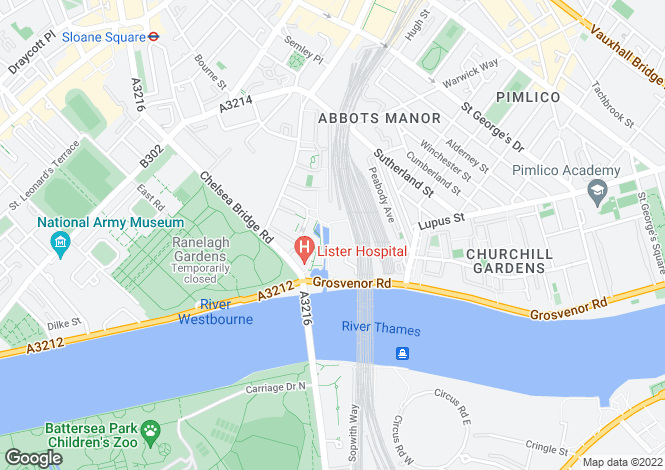 Map for Caro Point, Grosvenor Waterside, 8, Gatliff Road, London