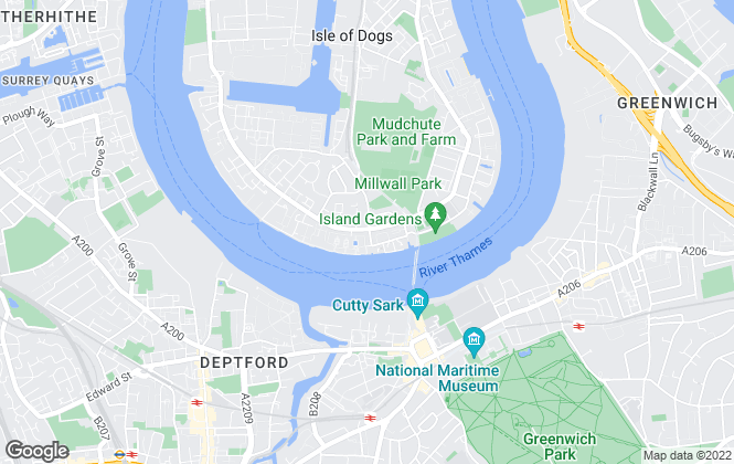 Map for Alex Neil, Canary Wharf/Isle of Dogs
