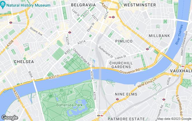 Map for Garton Jones, Pimlico & Chelsea