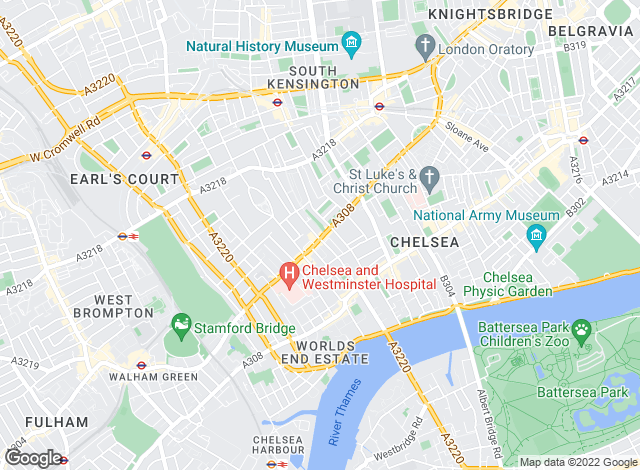 Map for Hamptons International Sales, Chelsea