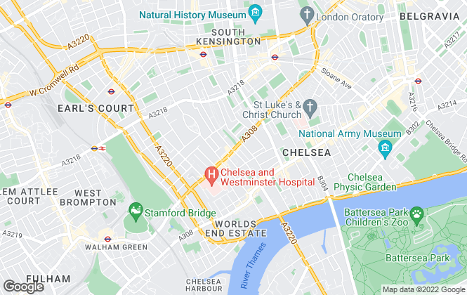Map for Hamptons International Lettings, Chelsea - Lettings