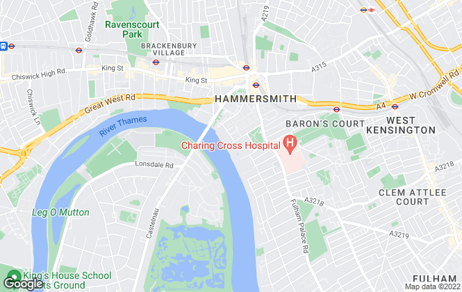 Map for Benham & Reeves Lettings, Hammersmith