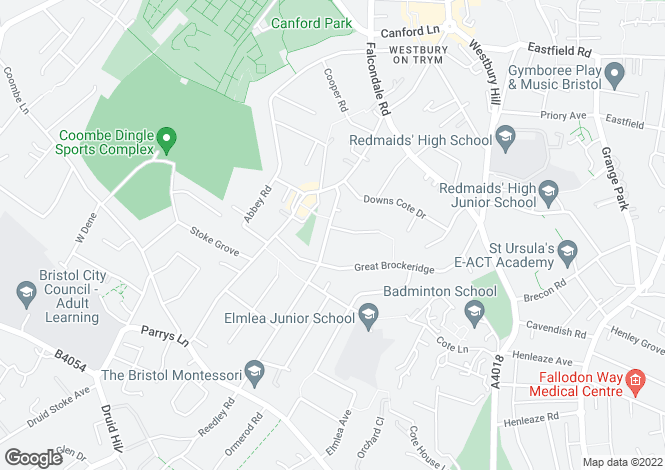 Map for Reedley Road, Westbury-on-Trym