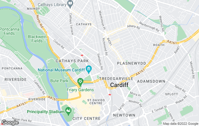 Map for Rooms Property Services, Cardiff