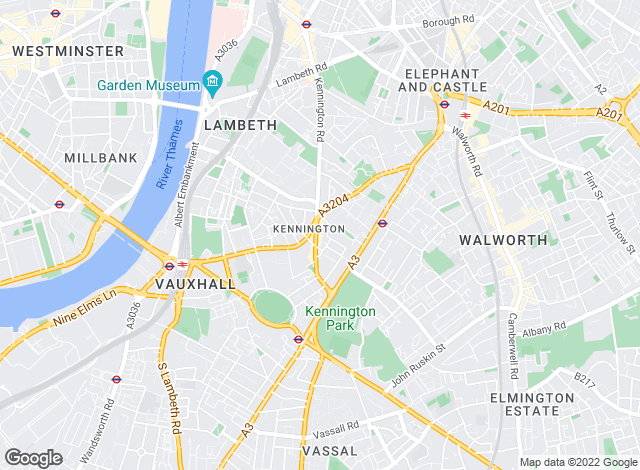 Map for Winkworth, Kennington Sales