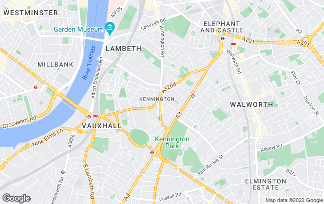 Map for Acorn, Kennington